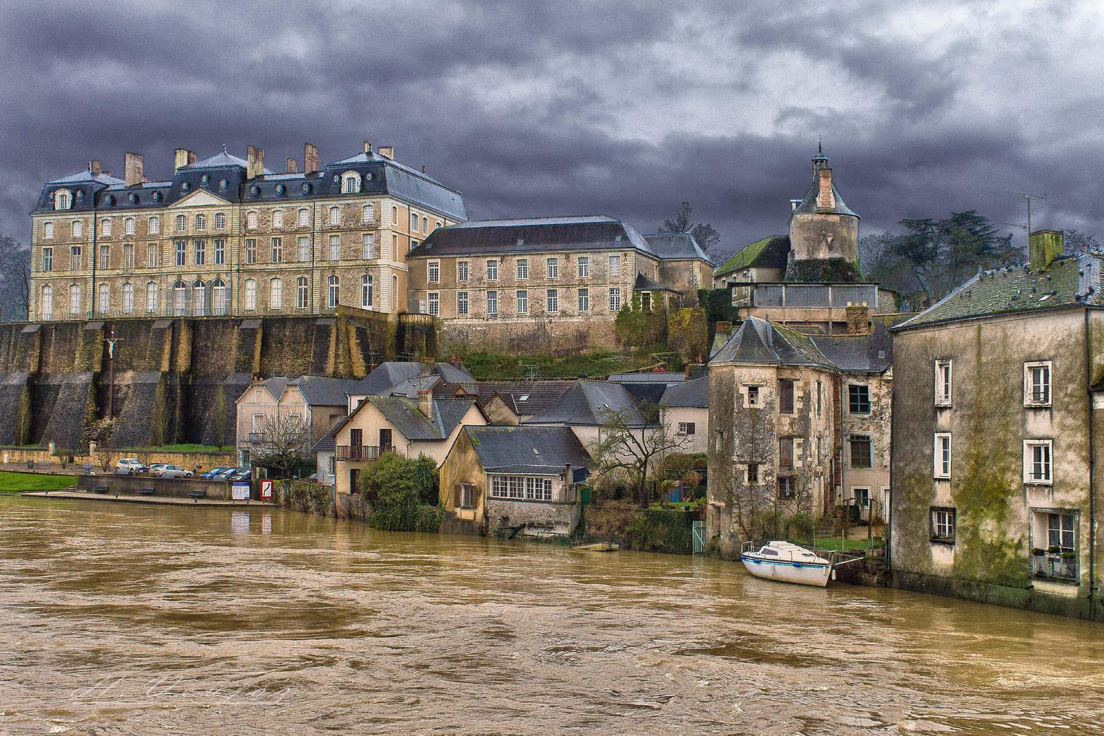 Castle of Sable sur Sarthe  Sarthe France by hubert61