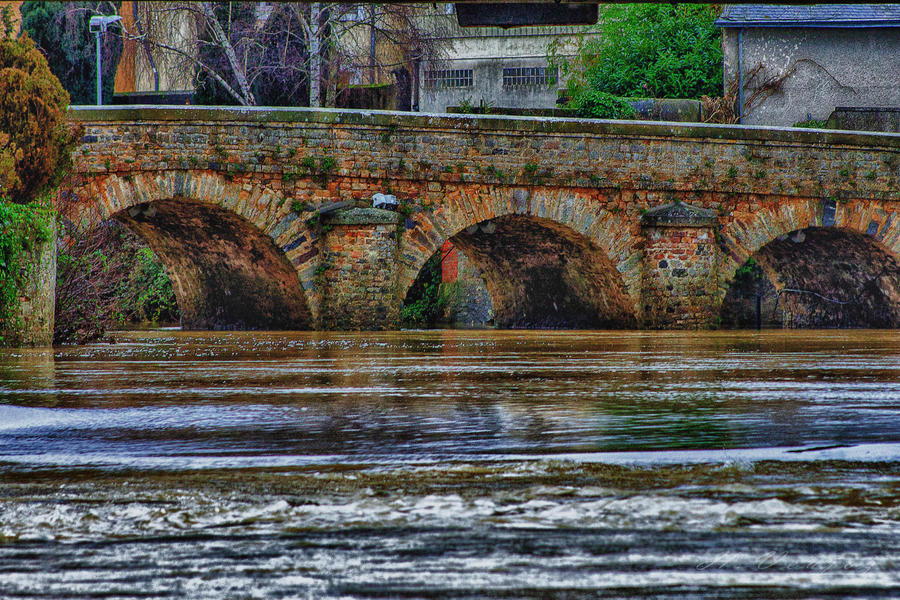 Bridge Sable sur Sarthe Sarthe France by hubert61