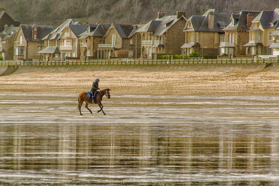 Beach of Carolles Manche France by hubert61