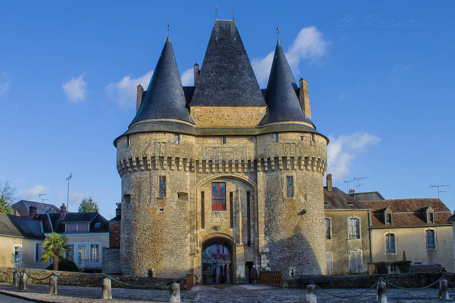 Castle of the Ferte Bernard Sarthe France by hubert61