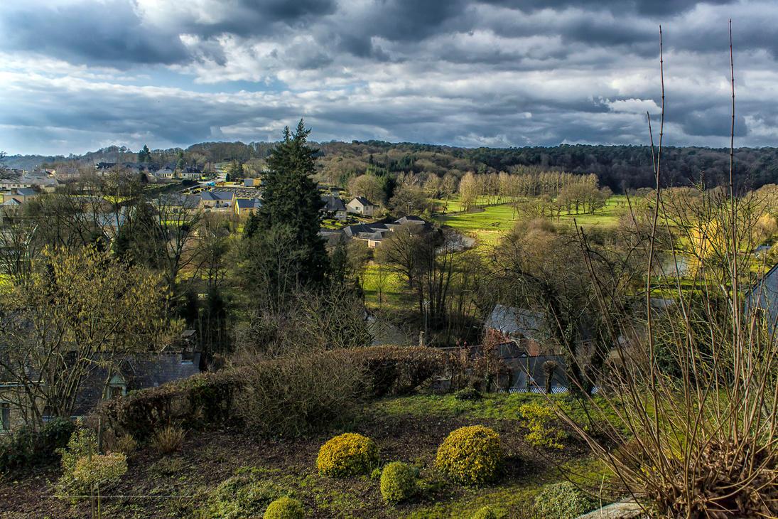 Vue de Chailland Mayenne France by hubert61