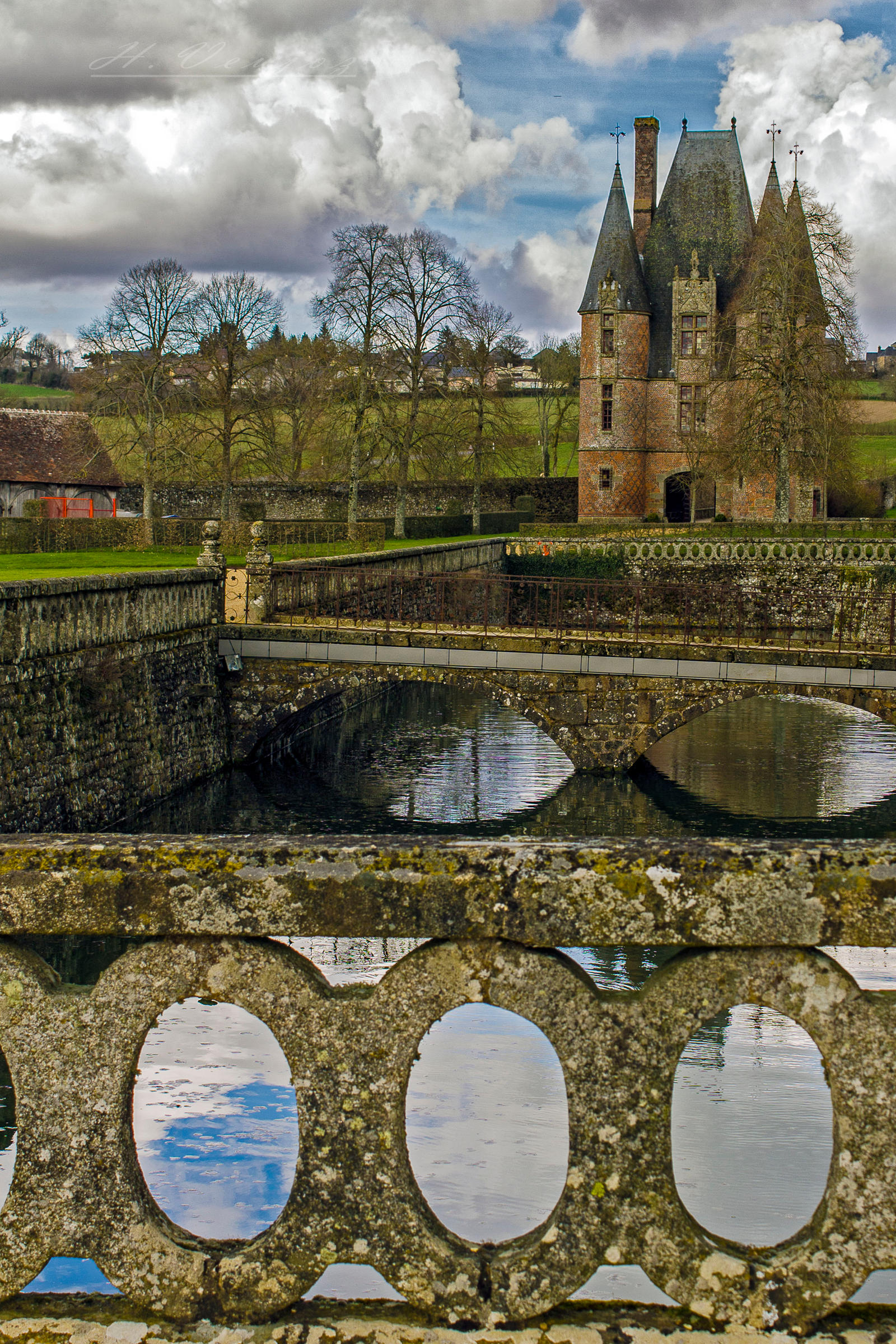 Between the Orne France Castle of Carrouge by hubert61