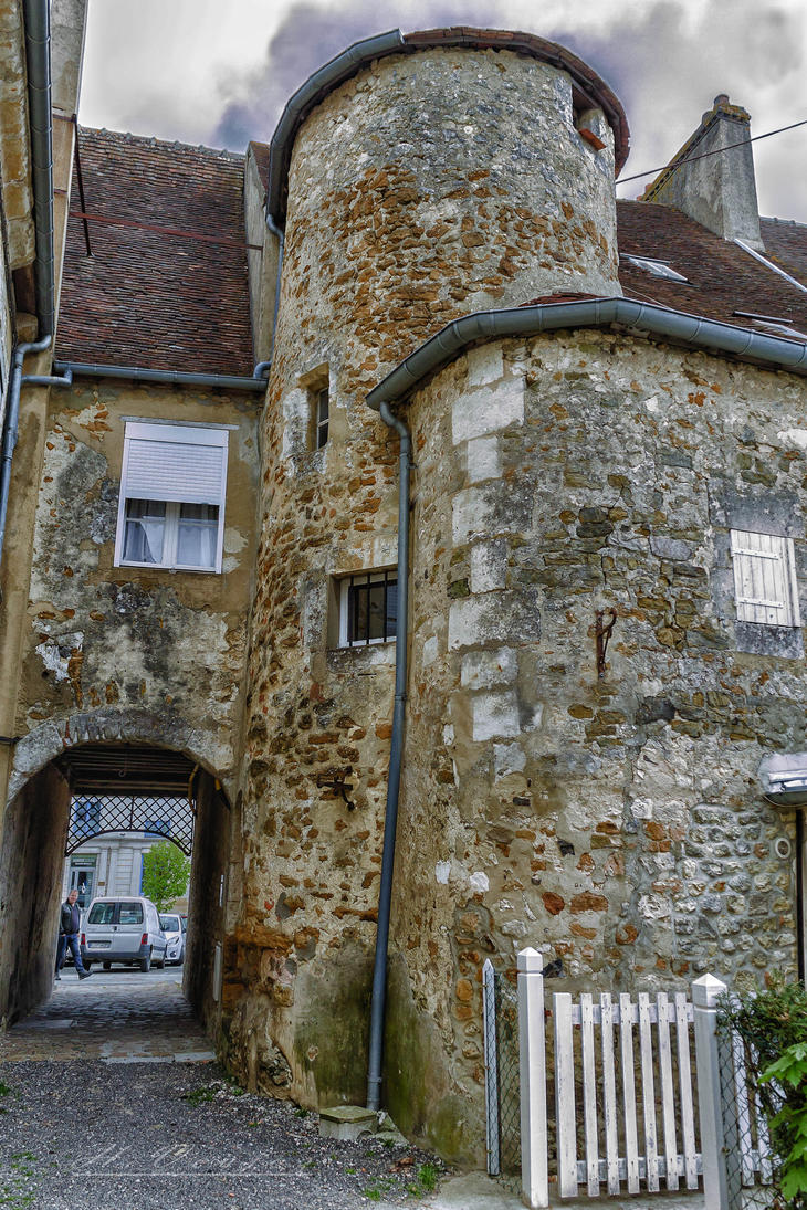 back of a restaurant Mortagne au Perche France by hubert61