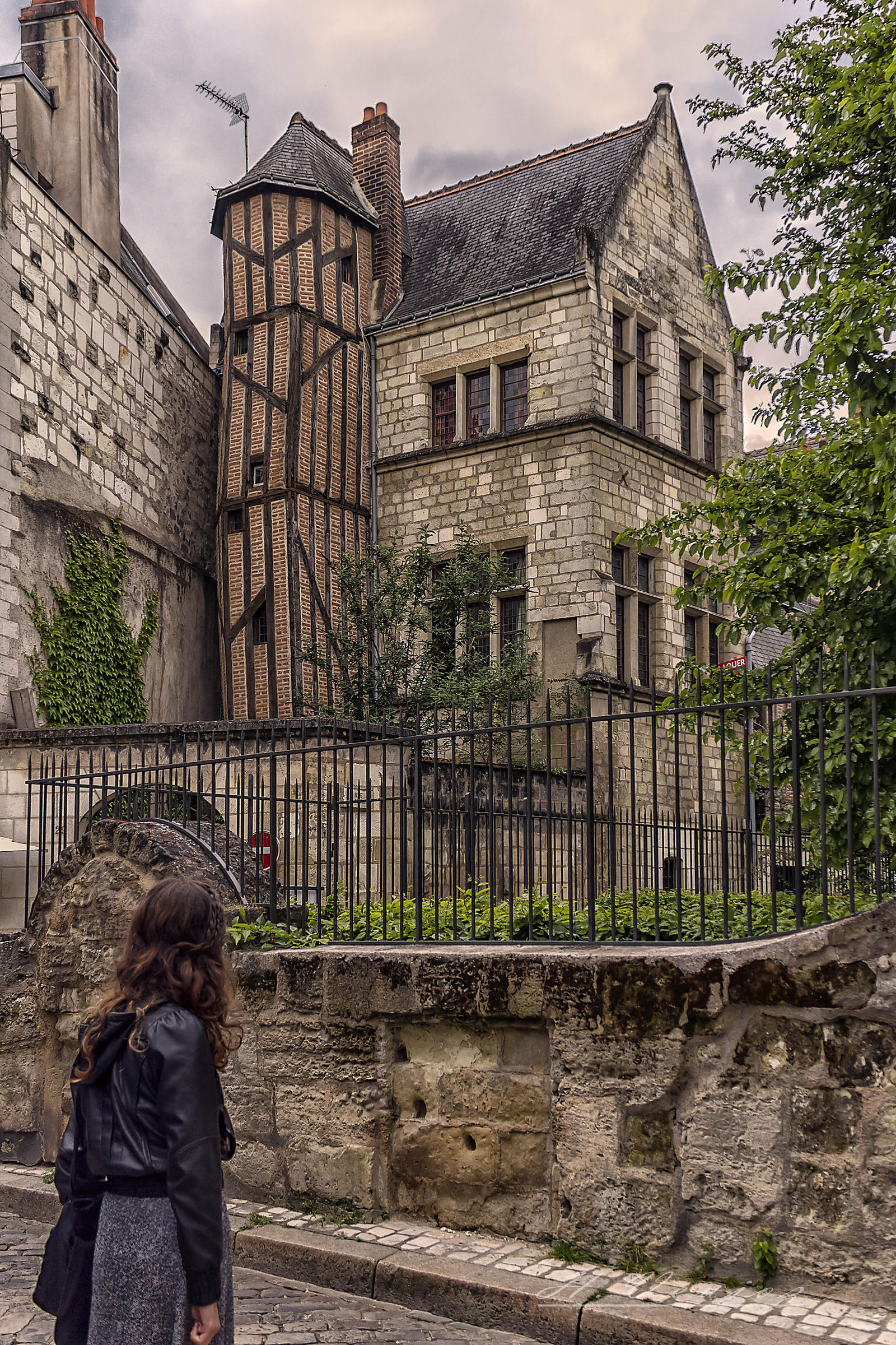 A street in Tours France by hubert61