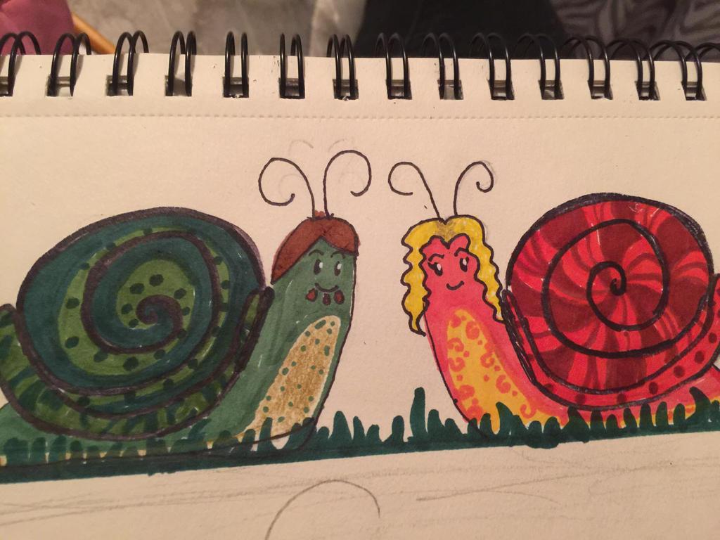 Doodle Date: Slug Friends  by derp901