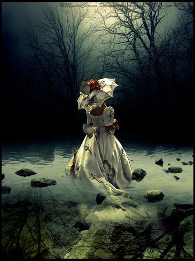 Woman in water by MysticCharm