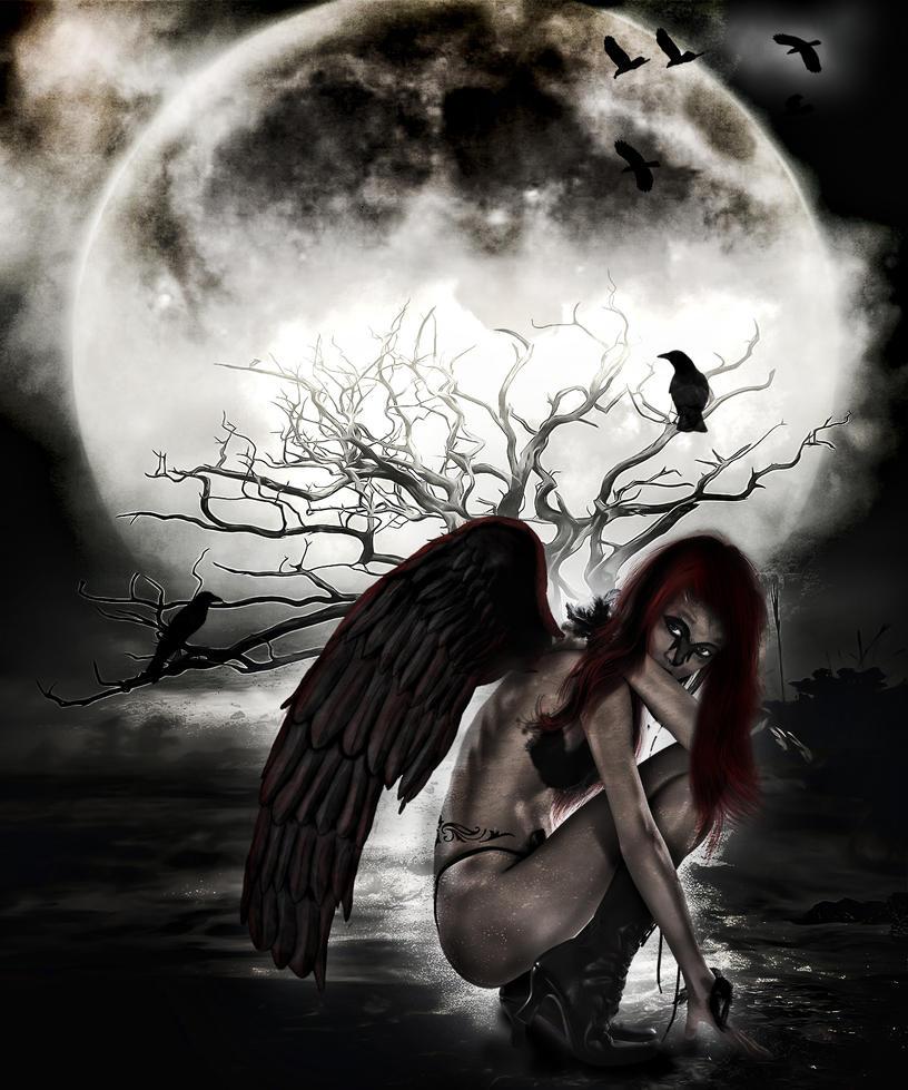 fantasy art angel sad - photo #33