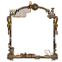 Steampunk Frame PNG