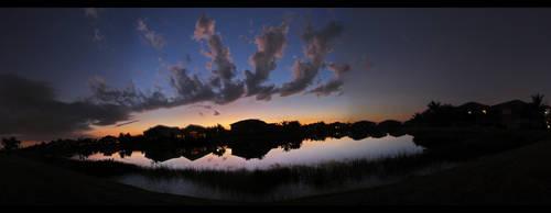 Sunset Panorma by HardToName