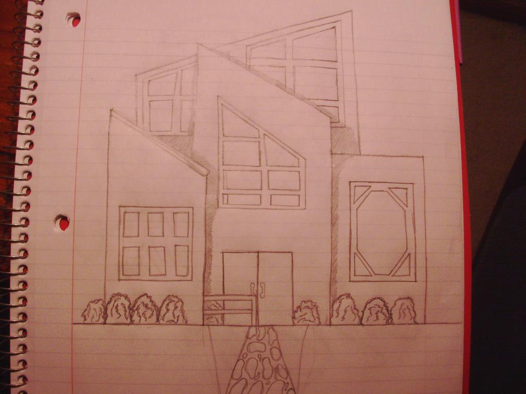 Modern House Sketch by dancingwaters97 on Deviantrt - ^