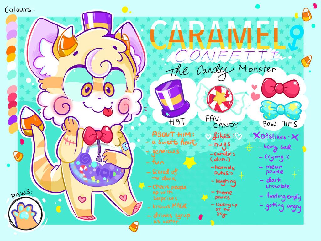 Caramel Confetti ~ Oc Reference Sheet by AmBerDaCat