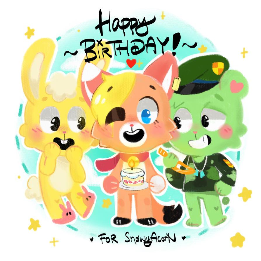 Happy Birthday, SnowyAcorN! (Gift) by AmBerDaCat