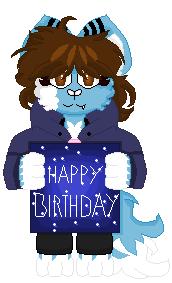 Happy Birthday Spacenimation by DayHorrorFox