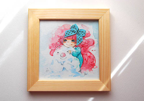 Bubblegum watercolor