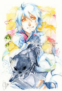 Dramatical Murder - Aoba watercolor