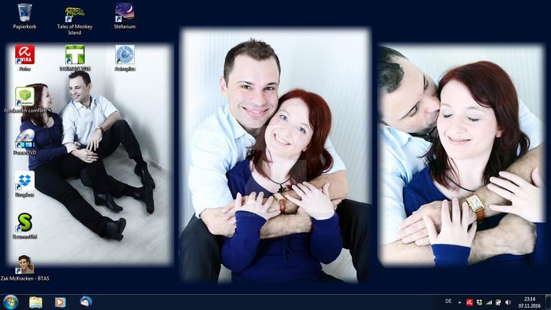 Lovestory Photoshooting Wallpaper by MutantPiratePrincess