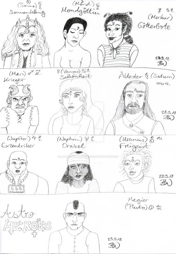Sketch: Astro Heroes by MutantPiratePrincess