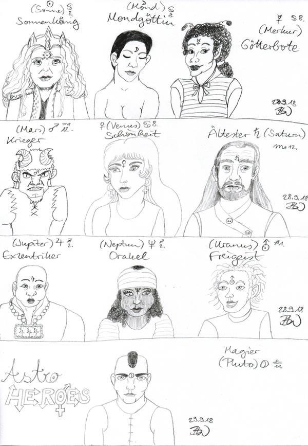 Sketch: Astro Heroes