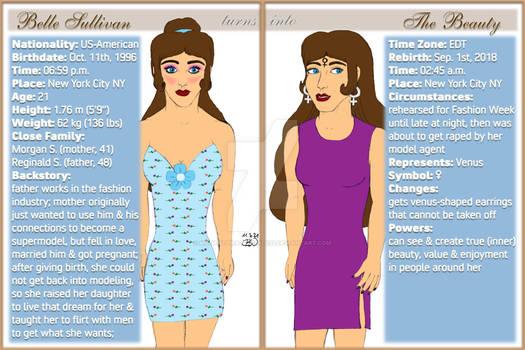 Astro Heroes: Beauty Character Sheet