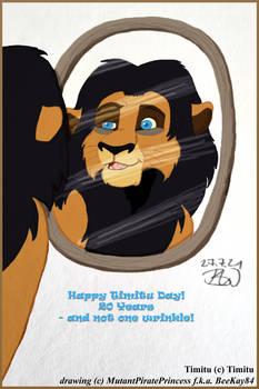 Colored Sketch: Happy 20th Timitu Day!