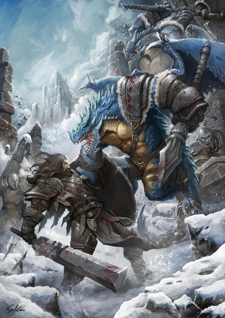 Snow Dragon by skaiChu