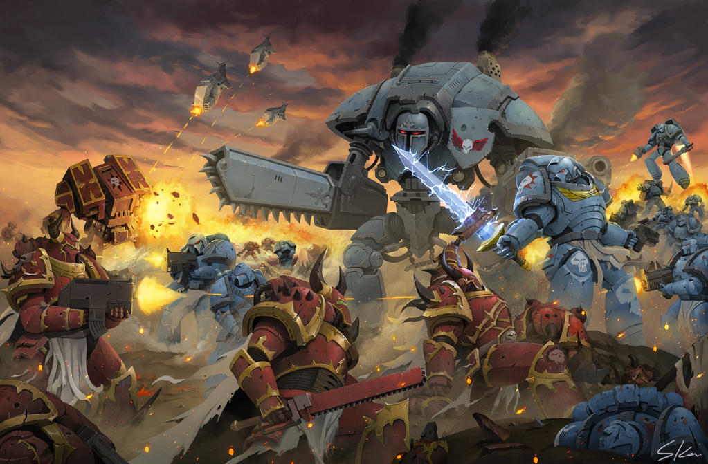 Warhammer fans art battlefield by skaiChu