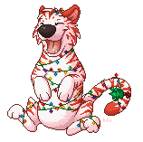 Candy Cane Tiger by blutastic