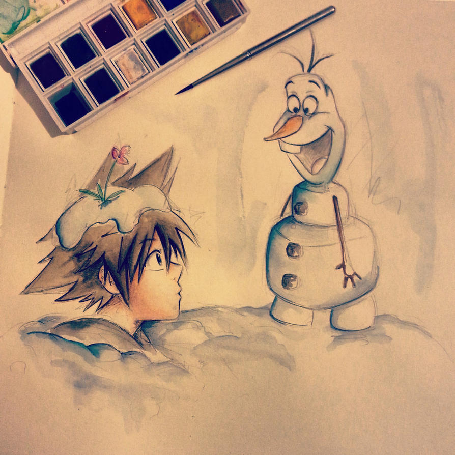 Sora and Olaf by ShelindaArt