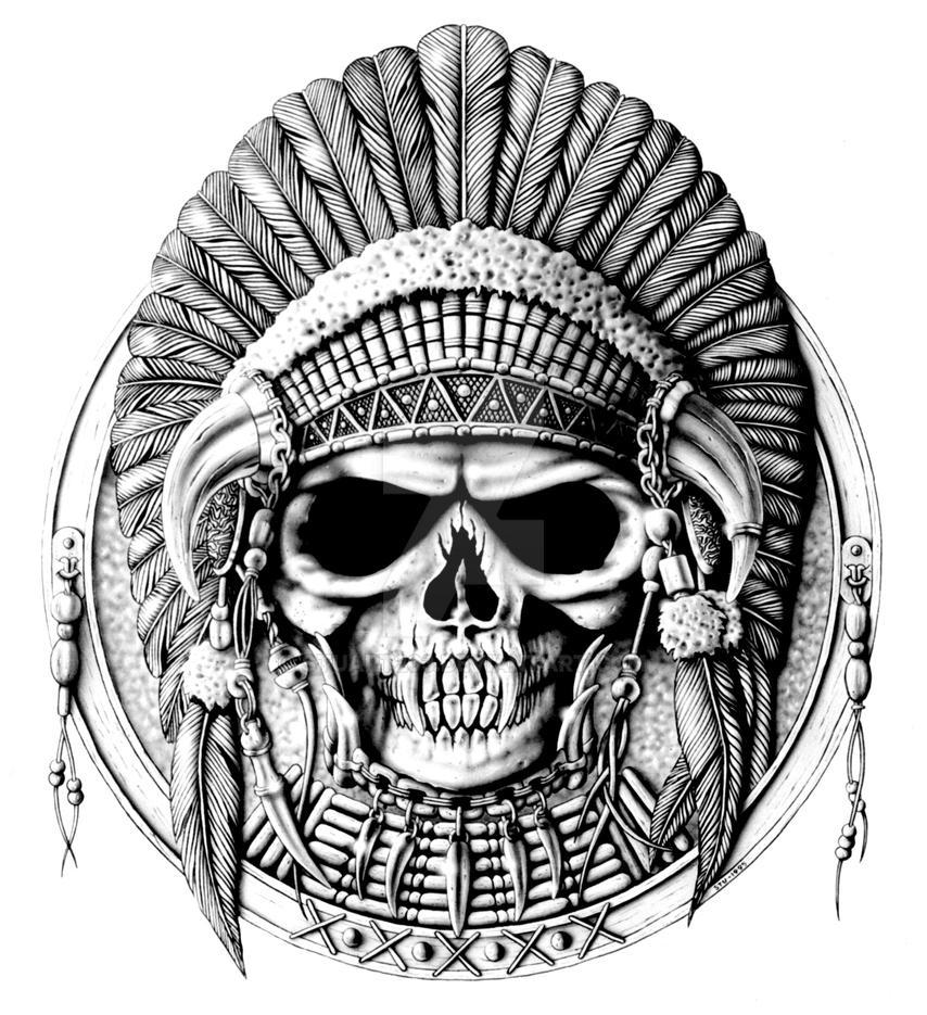 Tribal Skull by Stuart203