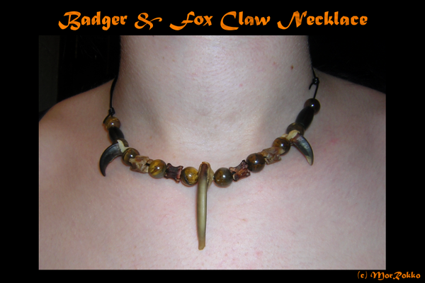 Badger and Fox Necklace by MorRokko