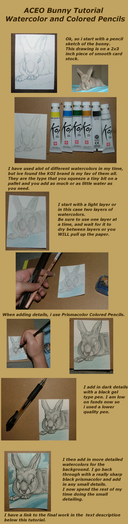 ACEO Rabbit Coloring Tutorial by MorRokko