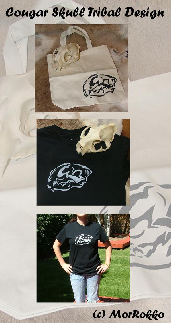Cougar Skull Design by MorRokko