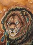 Majestic Lion Badge