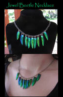 Egyptian Queen Beetle Necklace by Gray-Ghost-Creations