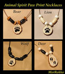Animal Tracks Necklaces by Gray-Ghost-Creations