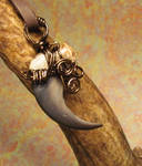 Bear in the Mist Claw Pendant
