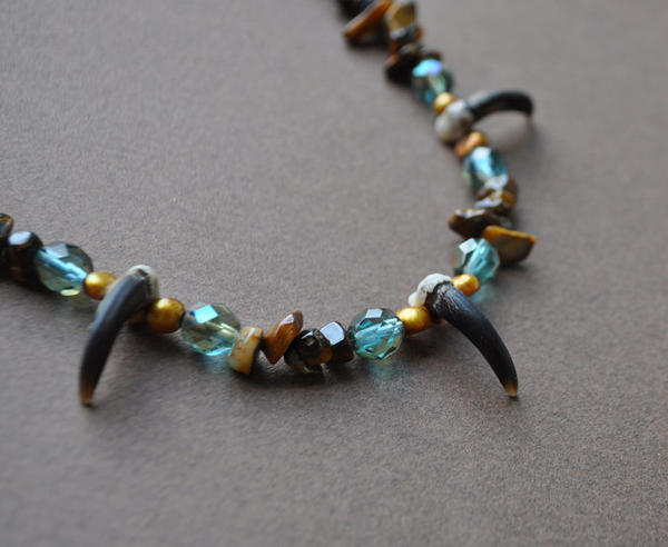 Earth Wind and Water Coyote Totem Necklace by MorRokko