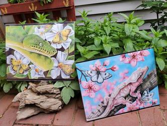 Limited Edition Prints - Gecko - Emerald Tree Boa
