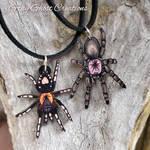 Wooden Tarantula Necklaces