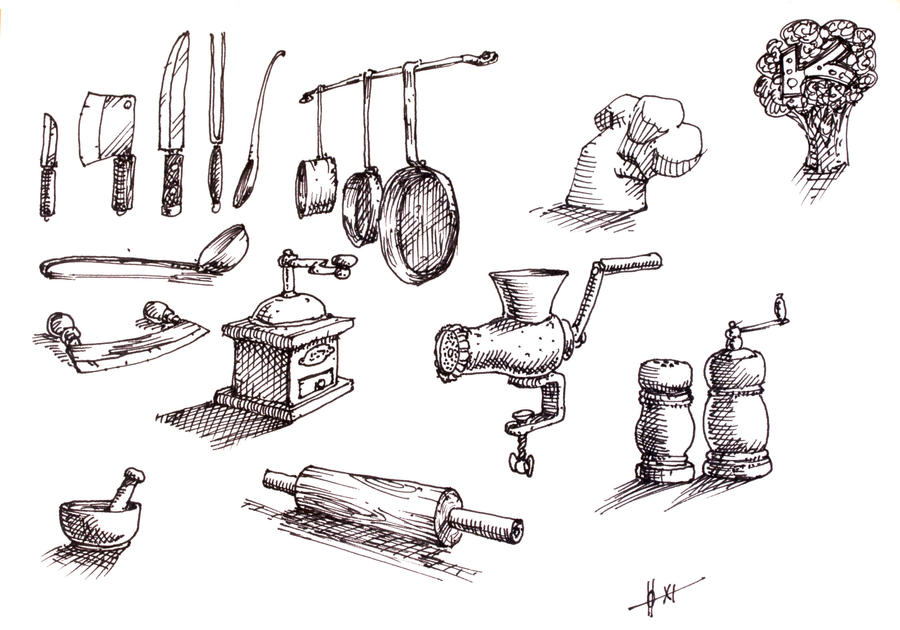 Utensils kitchen by gunnahan on deviantart for Kitchen design utensils