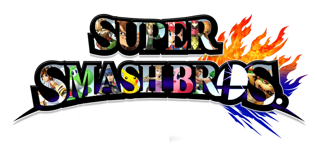 super smash bros. logo, characters insidedarksoul38118 on