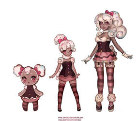Ginger bread girl 'evolutions' commission by jemajema