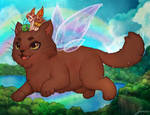 Flying Fairy Cat! for Cats and Fairies Calendar
