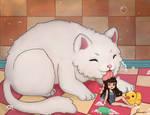 Bath Time! Cat and Fairies Calendar
