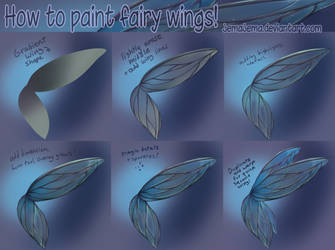 How to paint fairy wings tutorial :)