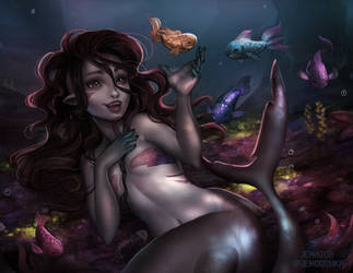 Shark mermaid by jemajema