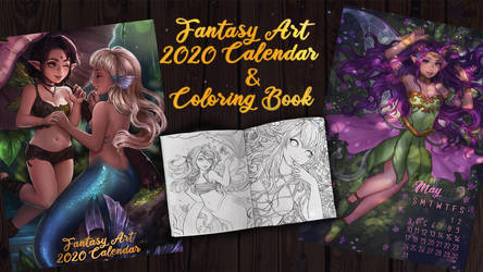Fantasy Art Calendar and Coloring book 2020