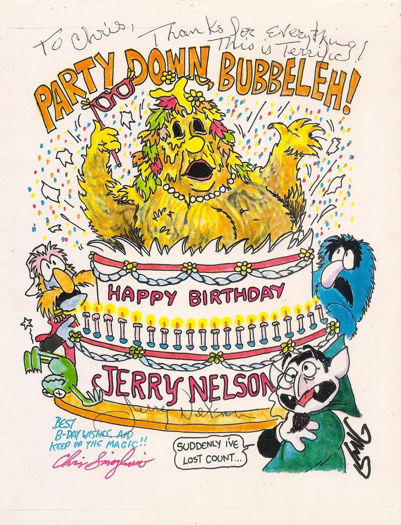 Jerry Nelson Birthday Card by Smigliano