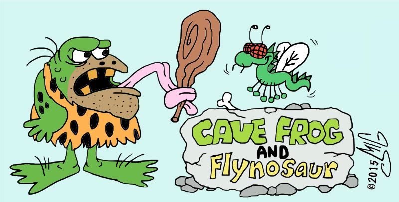Cave Frog and Flynosaur by Smigliano