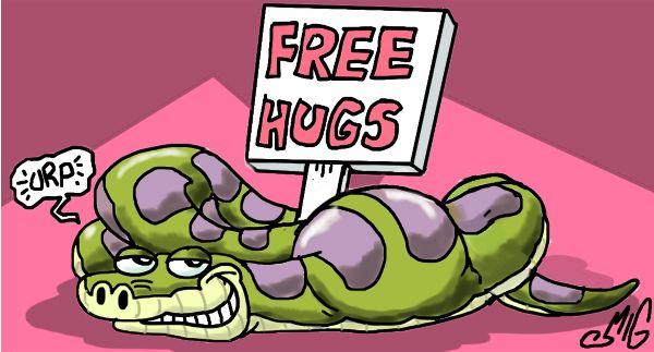 Free Hugs by Smigliano